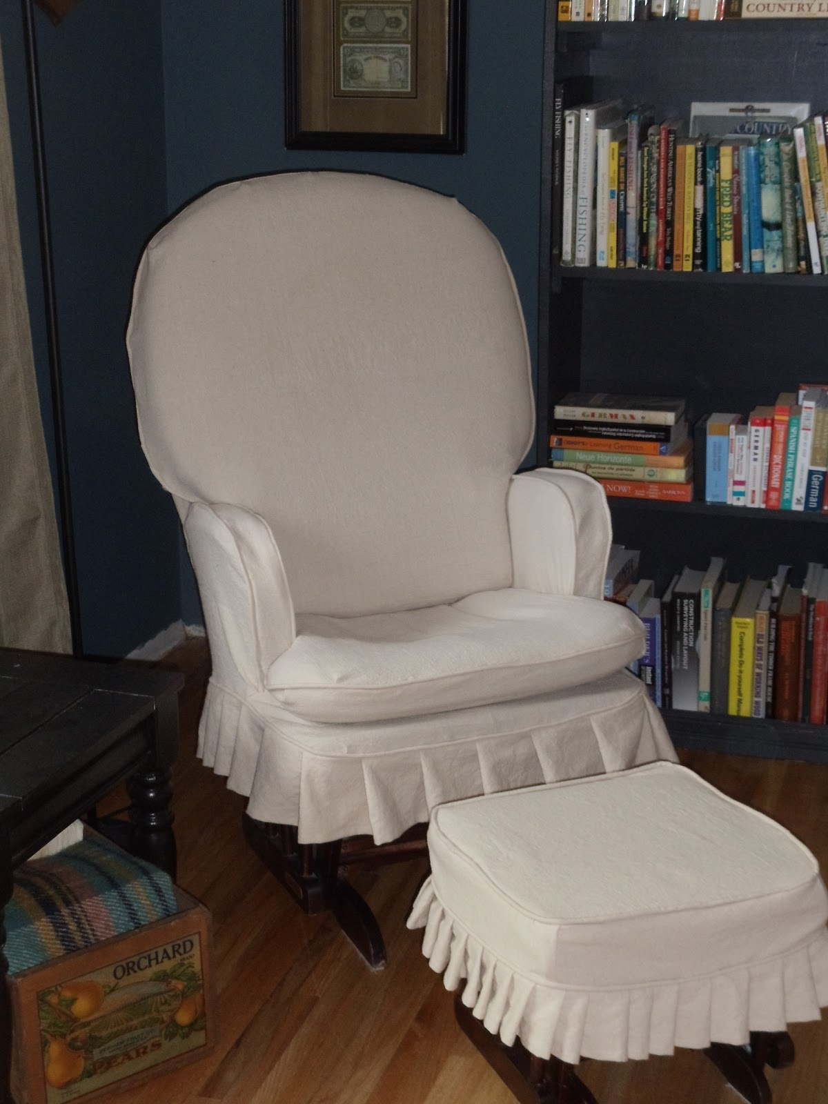 slipcovers for living room chair folding bowl simplevintagestyle: rocking slipcover reveal