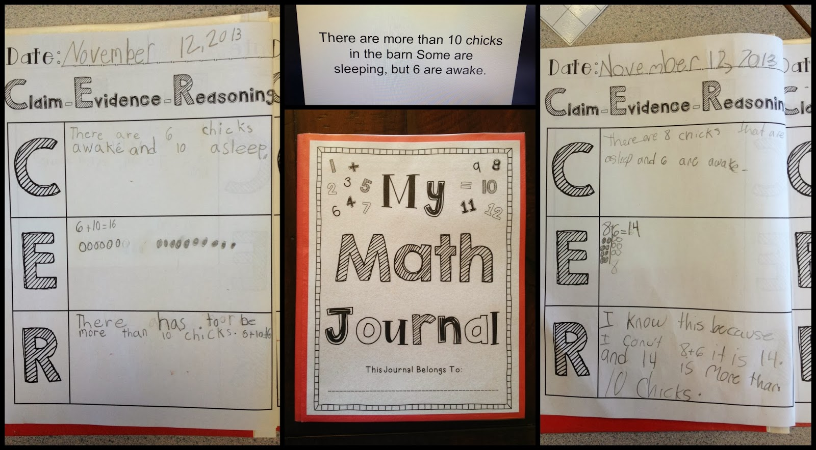 Crystal S Classroom Math Journal Using C E R