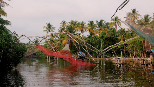 filet de pêche chinois backwater kerala