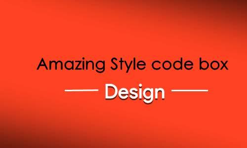 best code box design for blog widget