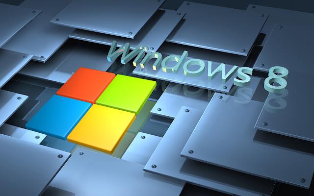 Moderne grijze 3D Windows 8 achtergrond