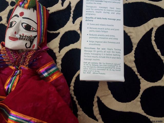 Himalaya For Moms Toning Massage Oil Ingredients
