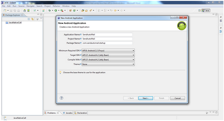 Android Development: How to send email using JAVA Mail and default