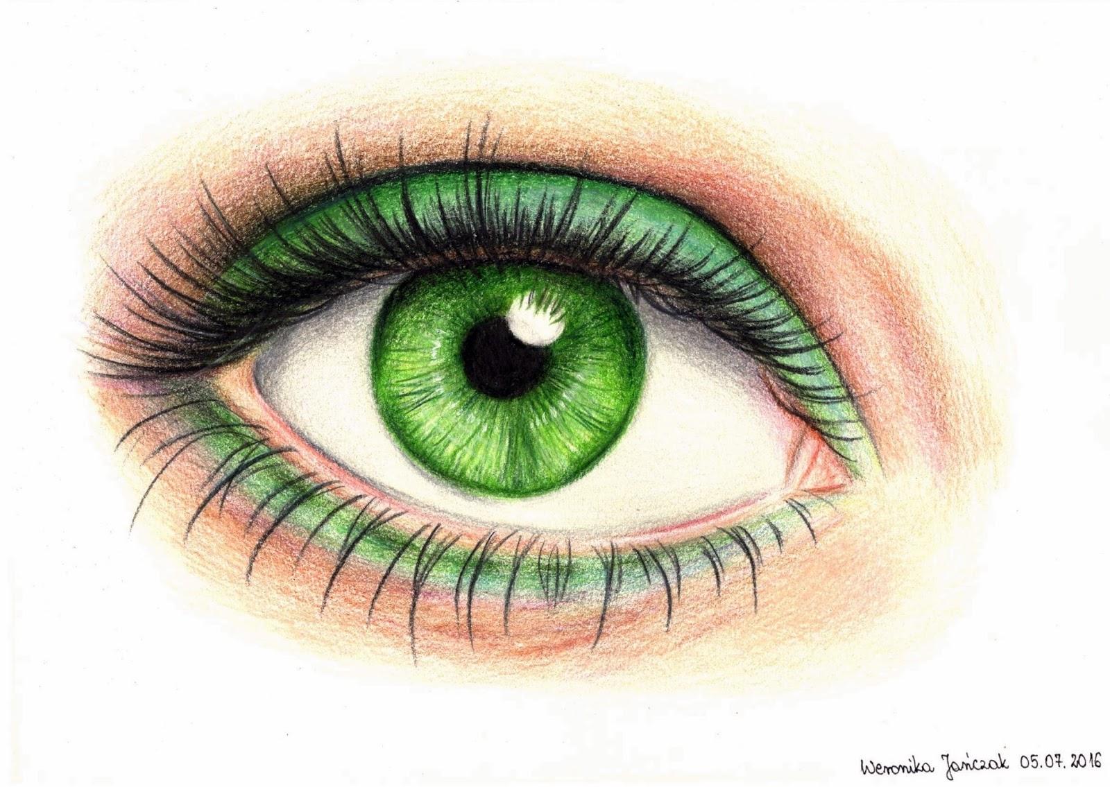 зеленые глаза картинки карандашом это только особенностей