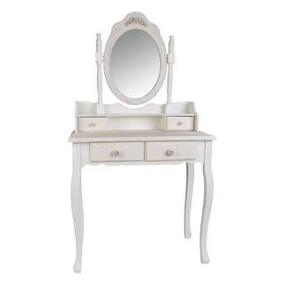 Mesa dormitorio con espejo