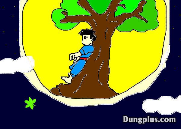 Chú cuội đã mang cây rìu khi lên cung trăng -  Giải đáp câu đố vui