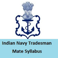 Indian Navy Tradesman Mate Syllabus