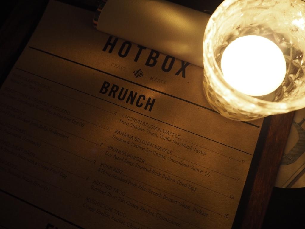 hotbox brunch menu london
