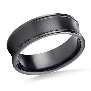 https://www.b2cjewels.com/men-gold-bands/grst0445/black-titanium-7mm-comfort-fit-satin-finished-concave-round-edge-carved-design-ring