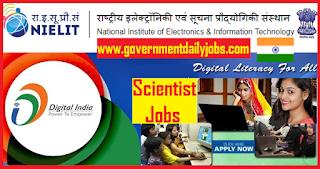 NIELIT Recruitment 2018 Apply Online for 56 Scientist C & D Vacancies