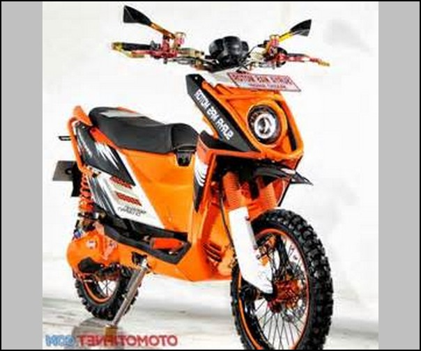 Kumpulan gambar modifikasi motor x ride terbaru trail ...