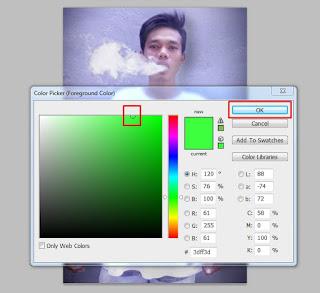 membuat efek asap rokok berwarna dengan photoshop