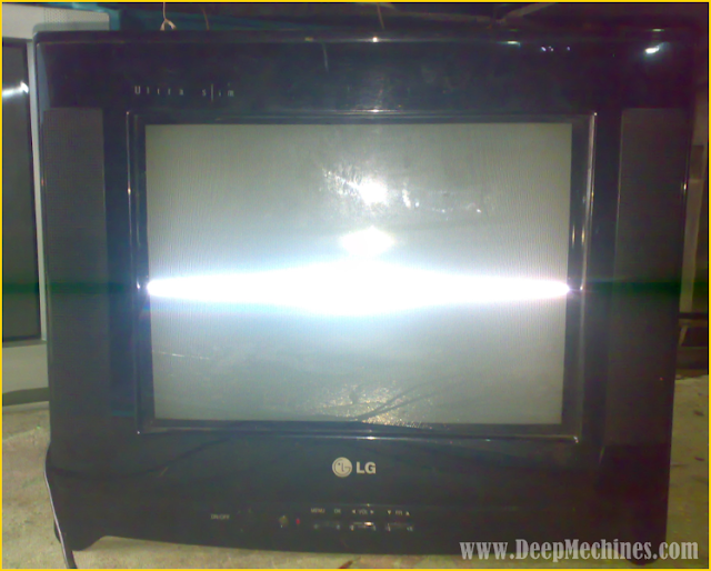 TV LG Ultra Slim 14-inch, Model: 14FU7AB-T2 - Kerusakan IC Vertikal