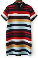 stripes, striped colors, collar dress