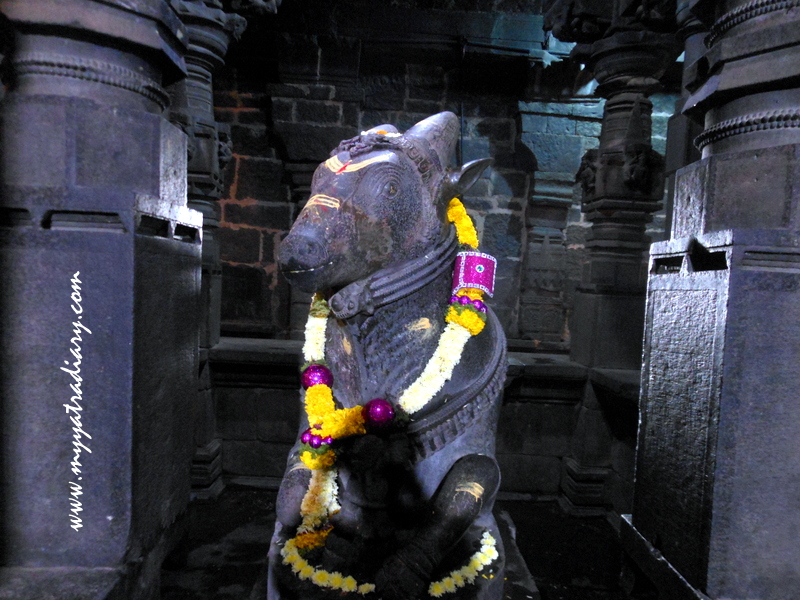 Nandi Bull at the Bhuleshwar Shiva temple in Pune