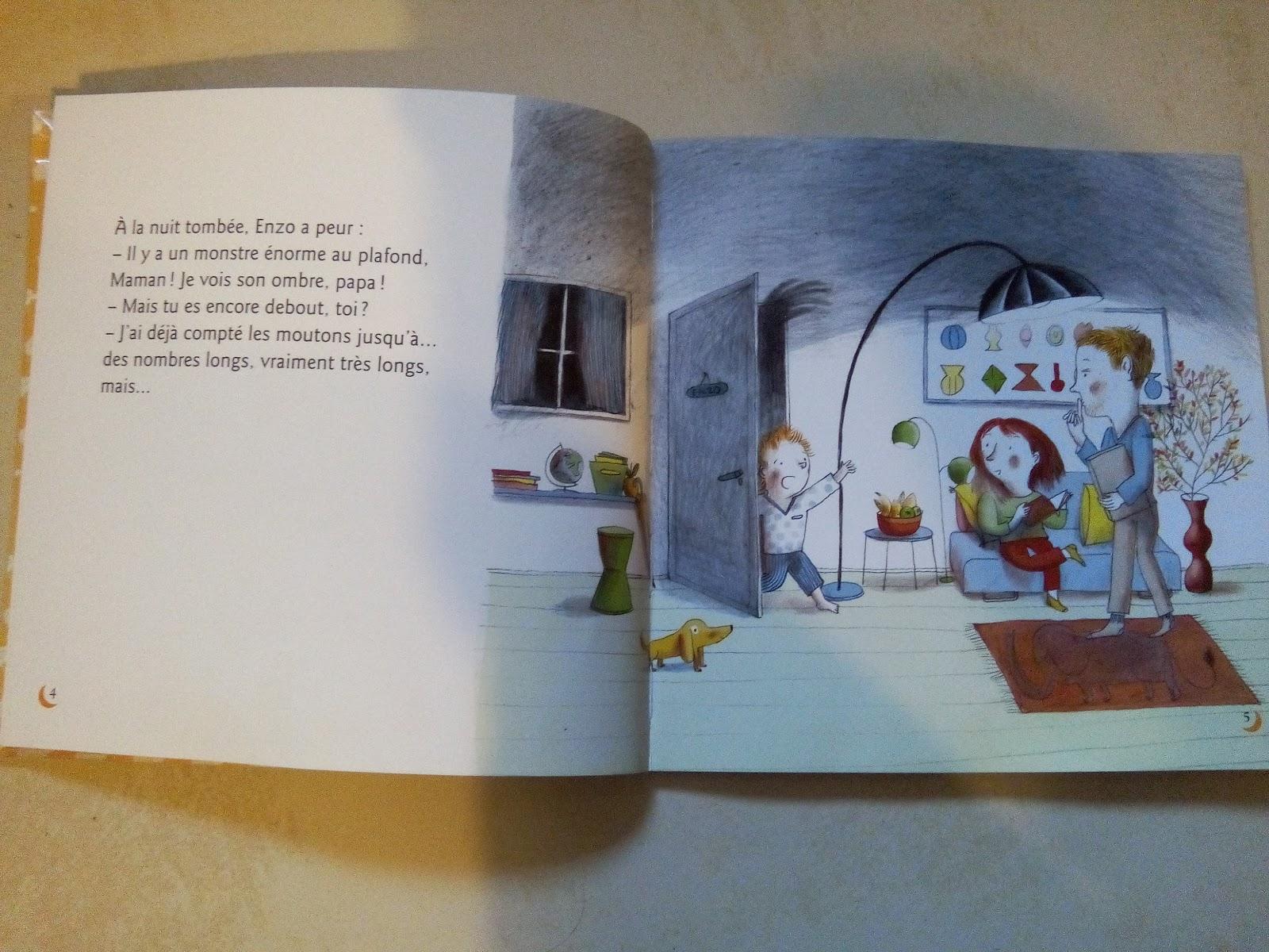 chut les enfants lisent enzo et le monstre du plafond. Black Bedroom Furniture Sets. Home Design Ideas