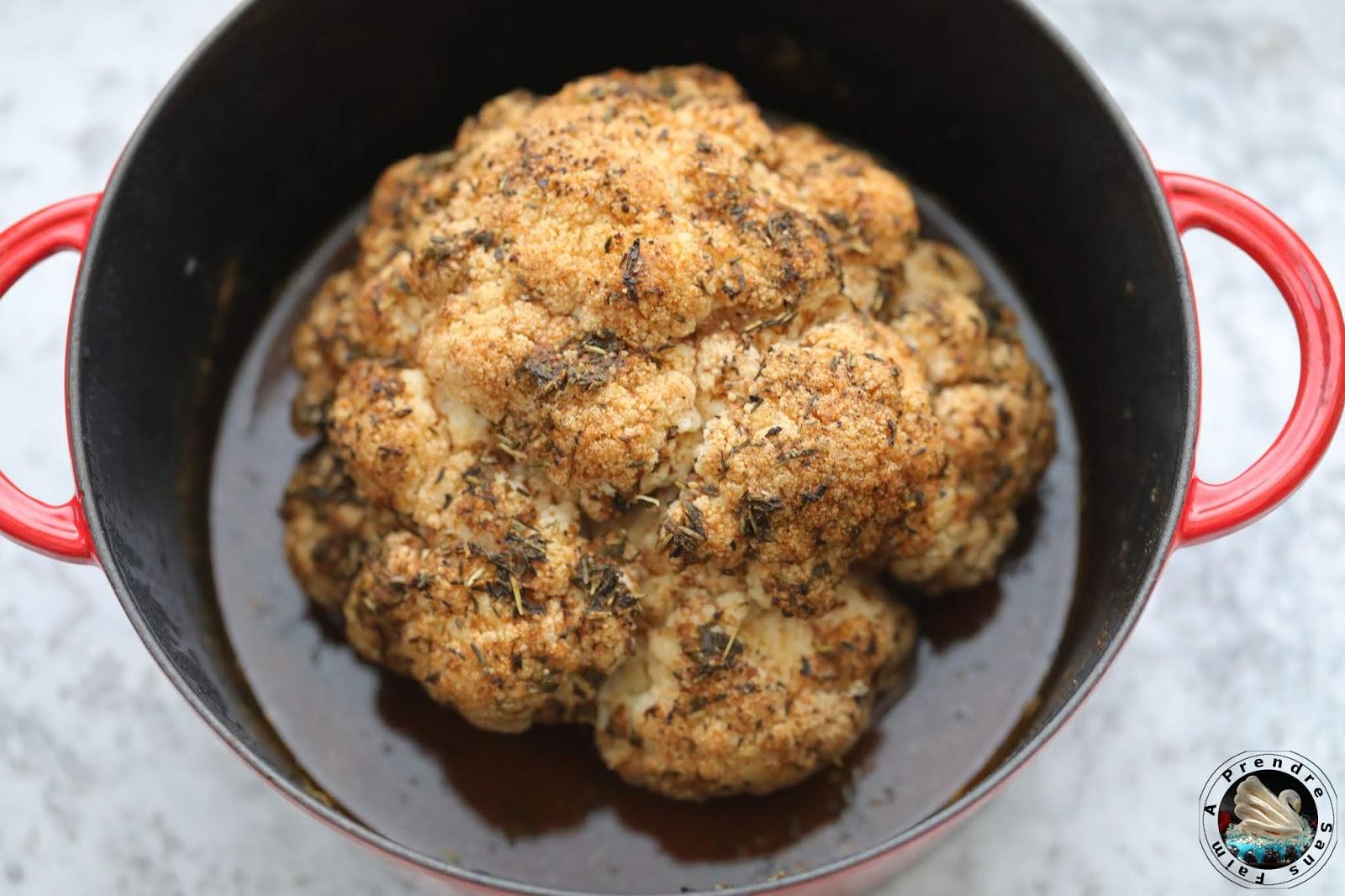 Chou-fleur rôti en cocotte