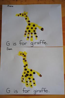 We Love Being Moms Letter G Giraffe Amp Gorilla