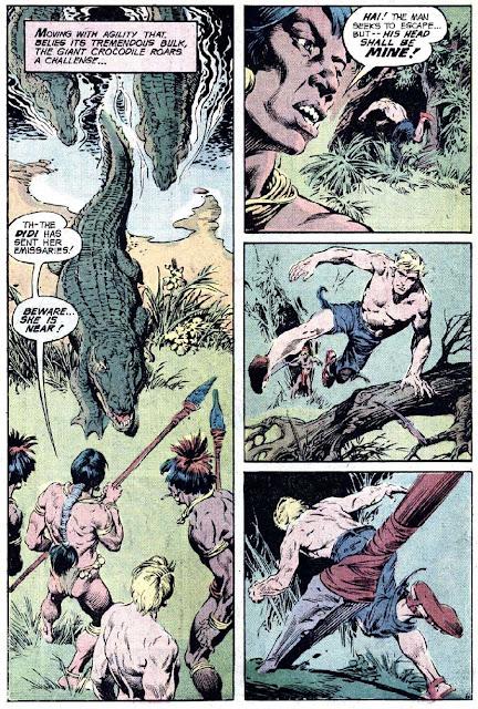 Rima the Jungle Girl v1 #4 dc bronze age comic book page art by Nestor Redondo