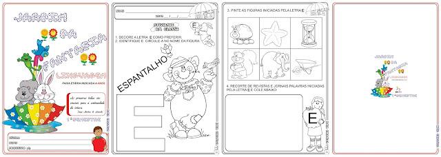 Caderno Linguagem Jardim da Fantasia 1º Semestre (Faixa Etária 4 Anos)