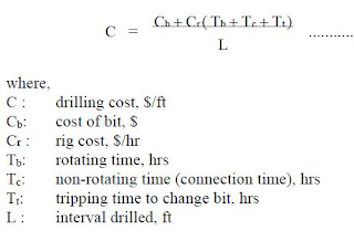 bit selection equation cost/ft