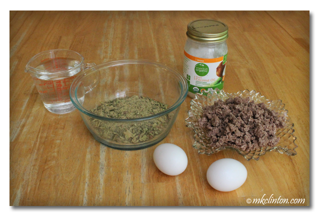 I add eggs, protein, and oil to Dr. Harvey's Paradigm Green Superfood Pre-Mix