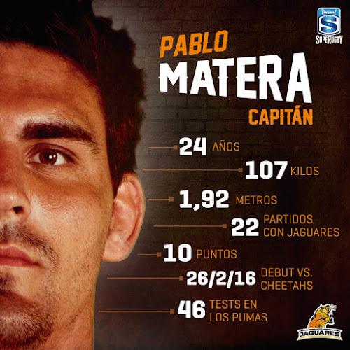 Pablo Matera, capitán de Jaguares