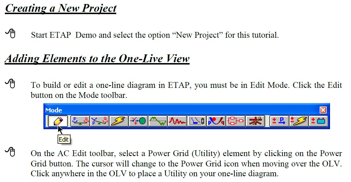 ETAP - Basic - Building a One Line Diagram [Closed