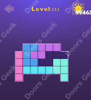 Cheats, Solutions, Walkthrough for Move Blocks Easy Level 111