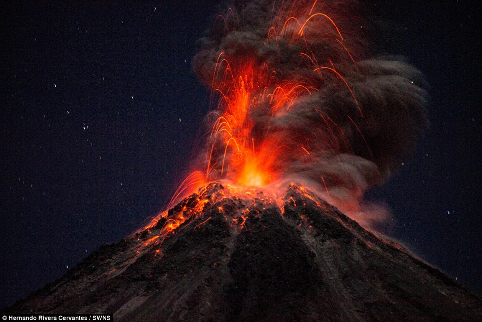 Image result for Mexican volcano erupts 3 times in 1 day