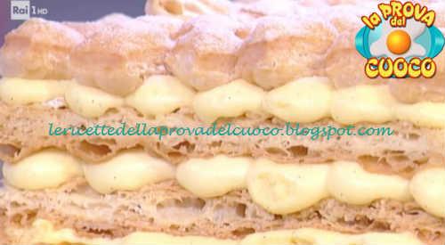 Prova del cuoco - Ingredienti e procedimento della ricetta Millefoglie alla vaniglia e gocce di cioccolato di Sal De Riso
