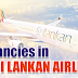 Vacancies in Sri Lanka Airlines - In flight Service Manager