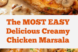 The MOST EASY Delicious Creamy Chicken Marsala Recipe #easy #dinner #chickendinner #easydinner #creamy #marsala #whole30 #chickenmarsala #keto #lowcarb #delicious