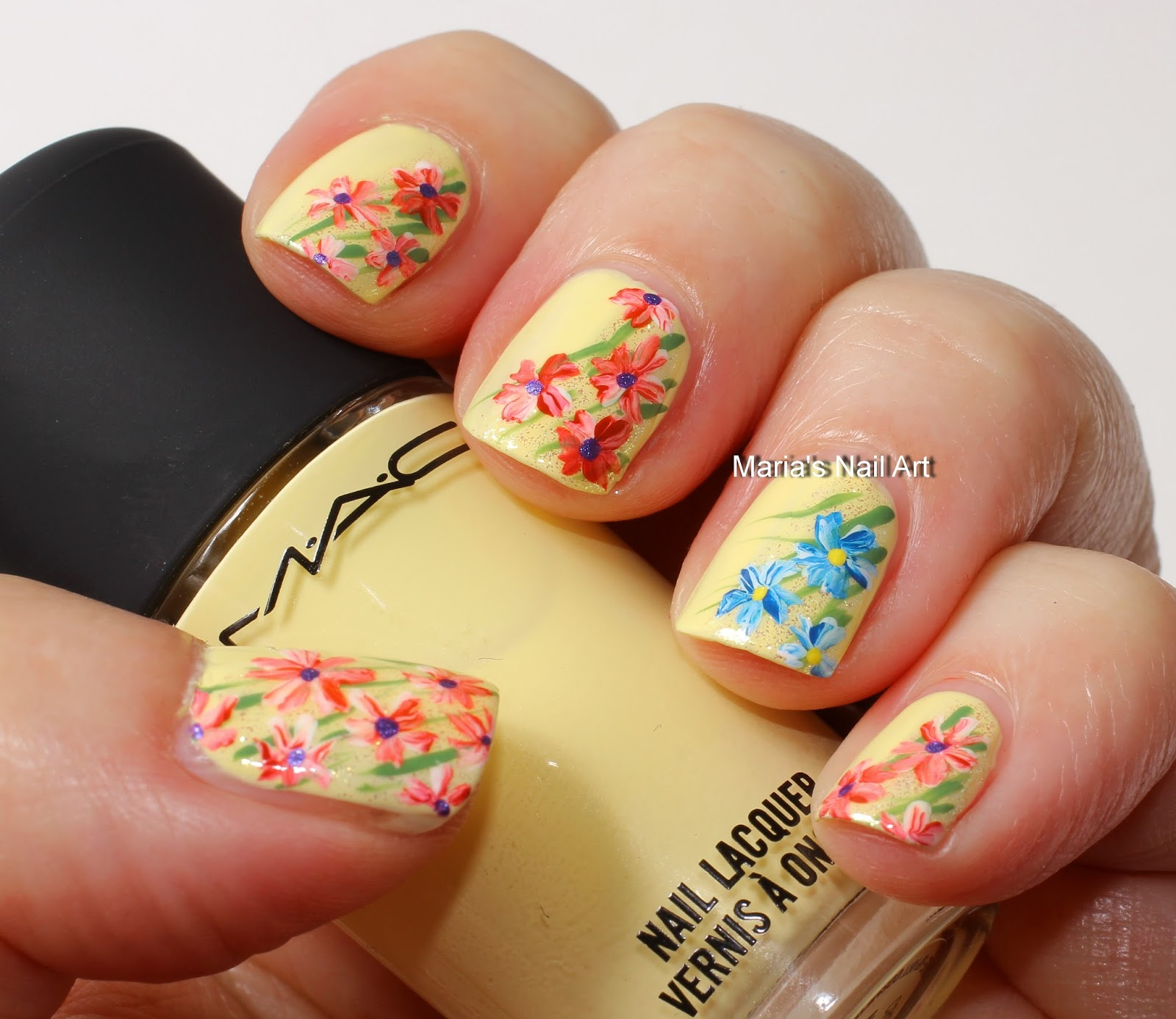 Marias Nail Art And Polish Blog: My Near Beth Flower