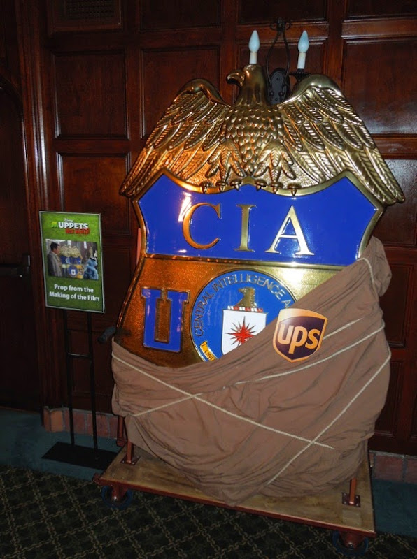Muppets Most Wanted giant CIA badge prop
