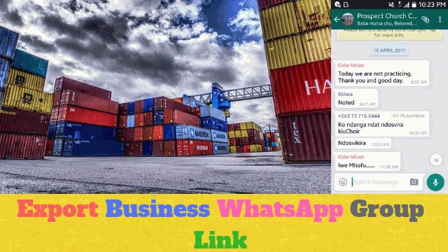399+ Best Export Business Whatsapp Group Link List 2019