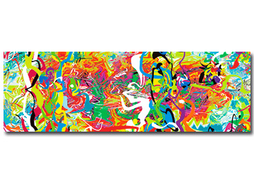 abstract painting, contemporary painting, abstract art, wall art, digital abstract painting, multi coloured wall art, panoramic wall art, vibrant canvas art, Sam Freek,