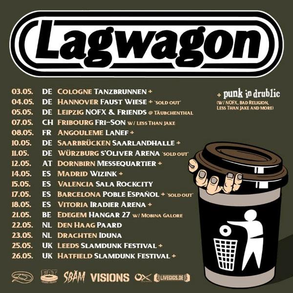 Lagwagon announce May 2019 European Tour