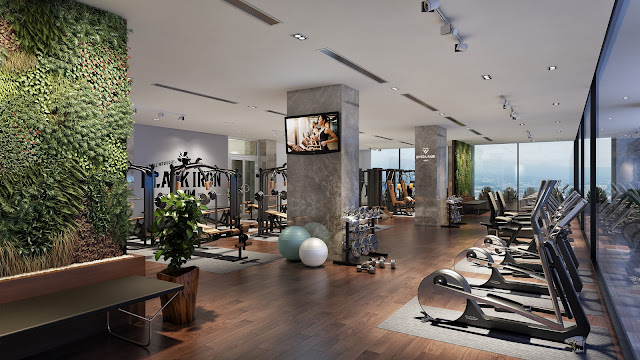 Phòng tập Gym cao cấp tại Rivera Park