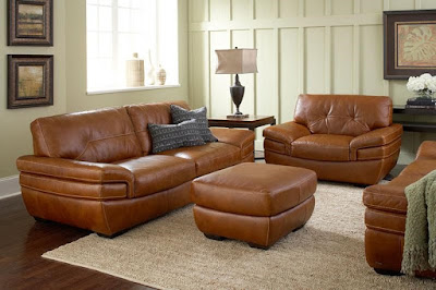 leather living room set at baer's furniture