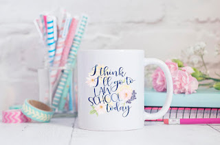 I Think I'll go to Law School Today coffee mug | brazenandbrunette.com