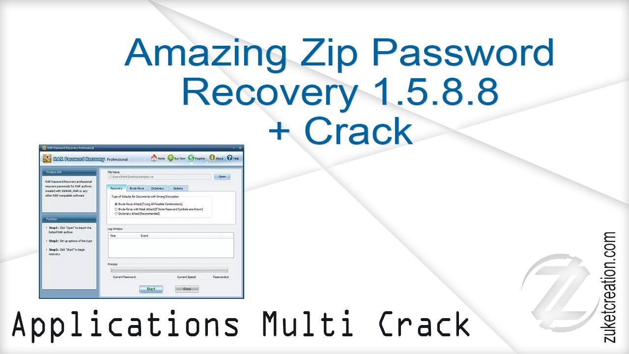 Asal Jadi: Amazing Zip Password Recovery 1 5 8 8 + Crack