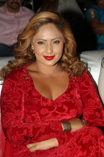 Actress Nikesha Patel Pictures in Red Dress at Araku Road Lo Audio Launch  0129