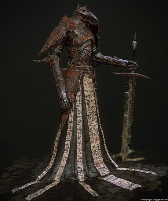 Svein Yngve Sandvik Antonsen arte modelos esculturas 3d digitais fantasia terror games