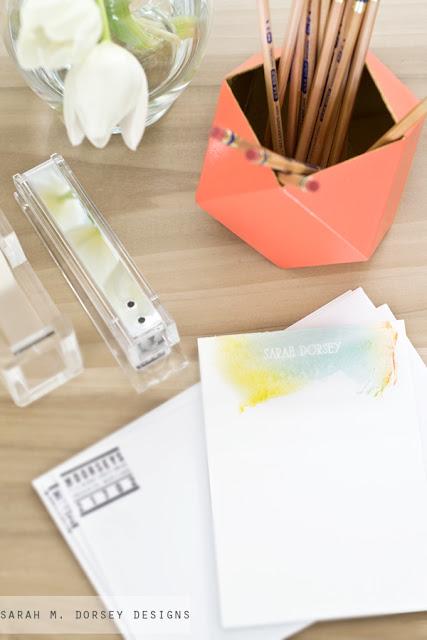 Stifthalter in verführerischer Geometrie – ein leichter Selbermachen-Tipp fürs Büro