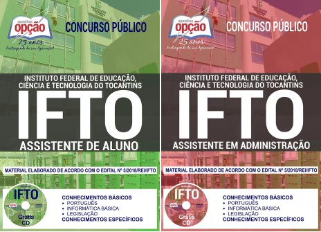 Apostila IFTO 2018 ASSISTENTE DE ALUNO