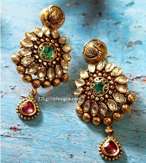Antique Jadau Earrings