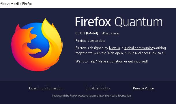 موزيلا تفرج عن فايرفوكس 63.0.3 لإصلاح بعض الأخطاء