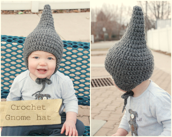 4720491c61e I decided to share crochet instructions for a baby gnome hat! If you want  to read about my inspiration for the hat and what not