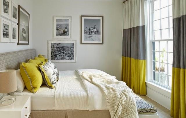 Habitación en amarillo y gris